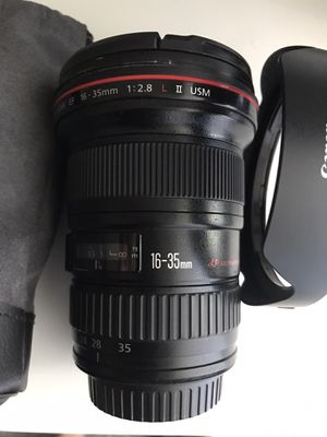 Canon 16-35mm 2.8L vii lens for Sale in Fullerton, CA
