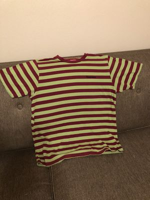 Supreme Bar Striped T - Shirt 100% Authentic for Sale in East Peoria, IL