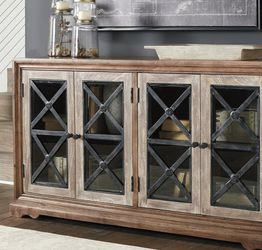 By Ashley ♨️Ellisburg Antique Brown Accent Cabinet 💢💥 for Sale in Greenbelt,  MD