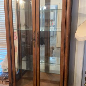 Solid Wood China Cabinet for Sale in Houston, TX
