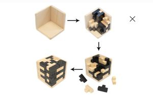 Brain training Cube Puzzle iQ Tetris 3D wood Toys And Games for Sale in Elmwood Park, IL