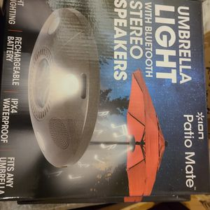 patio mate umbrella light & bluetooth® speaker for Sale in Beaumont, CA