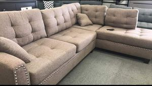 New Sectional Couch with ottoman only $50 down payment for Sale in Los Angeles, CA