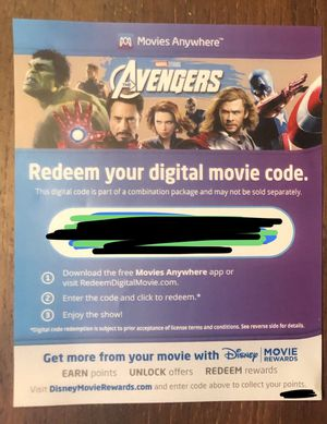 Marvel's The Avengers 4K Digital Code (price negotiable) (Blu-ray also available) for Sale in Fillmore, CA