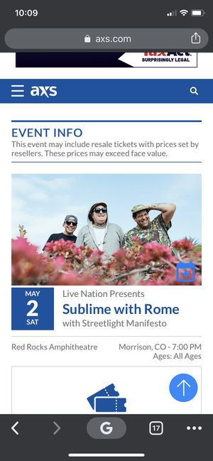 Sublime with Rome Red Rocks for Sale in Denver, CO