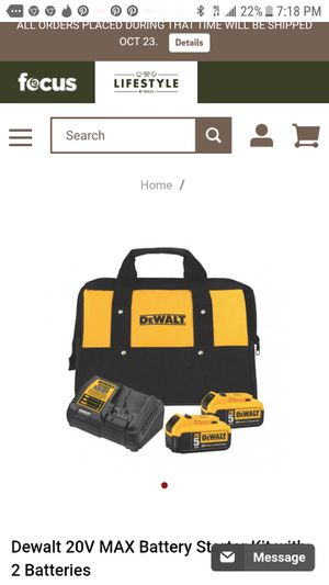 2) dewalt 5.0 xr batteries and charger ( no bag included for Sale in San Jose, CA