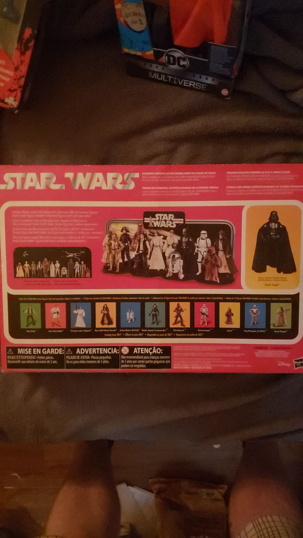 Star wars Darth Vader exclusive 40th anniversary set with stand