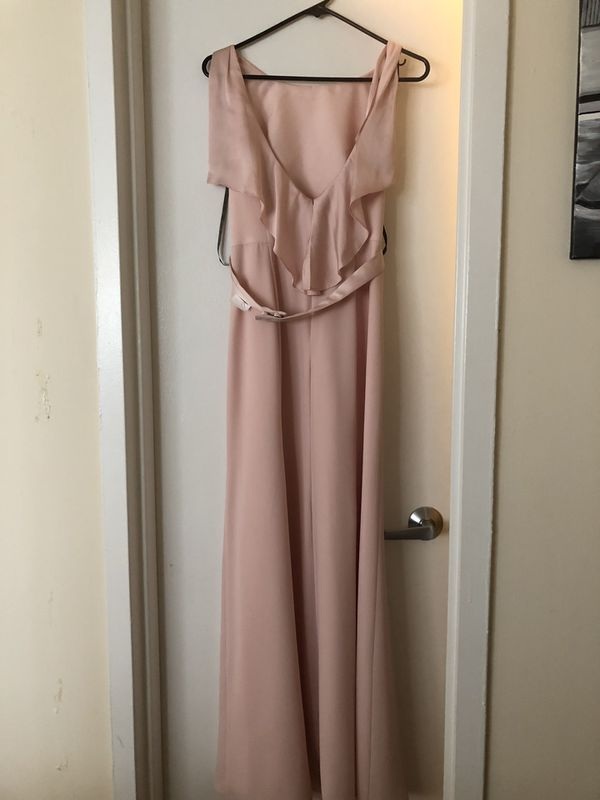 Vera Wang blush bridesmaids dress (size 4)