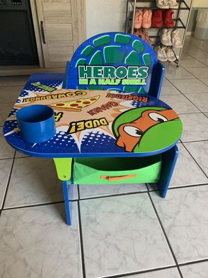 NINJA TURTLE 🐢 DESK CHAIR FOR KIDS ‼️ for Sale in Long Beach, CA