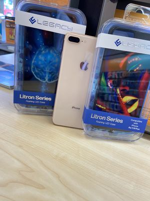 iPhone 8 Plus & Litron LED case for Sale in Eugene, OR