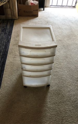 Rolling plastic drawer for Sale in San Diego, CA