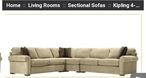 "jonathan louis sectional 4 piece microfiber couch ""like new"" for Sale in Shelton, CT"