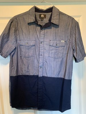 Short sleeve denim color shirt RR size L for Sale in Cadwell, GA