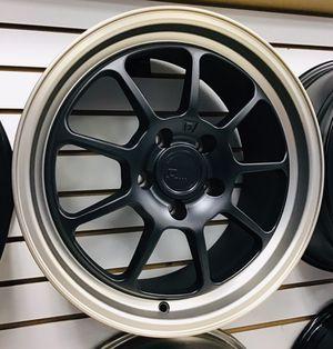 "NEW! 17"" Motegi Racing Matte Black Bronze Rims Wheels 5x4.5 Honda Civic Accord Nissan Altima Camry Tuner Rota Spec for Sale in Tampa, FL"