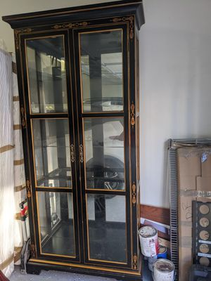 Cupboard with glass shelves for Sale in Santa Clara, CA