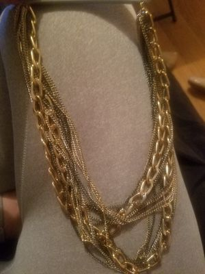 Gold, black, and silver chain necklace for Sale in Nashville, TN