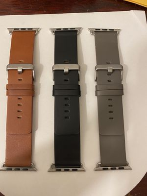 Apple Watch leather bands for 42 MM for Sale in East Longmeadow, MA