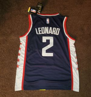 [New '19 Clippers Jersey] Official Nike Kawhi Leonard #2 - Stars & Stripes Throwback Los Angeles Clippers Jersey [Sizes: S, M, L, XL, & 2XL] for Sale in Chino, CA