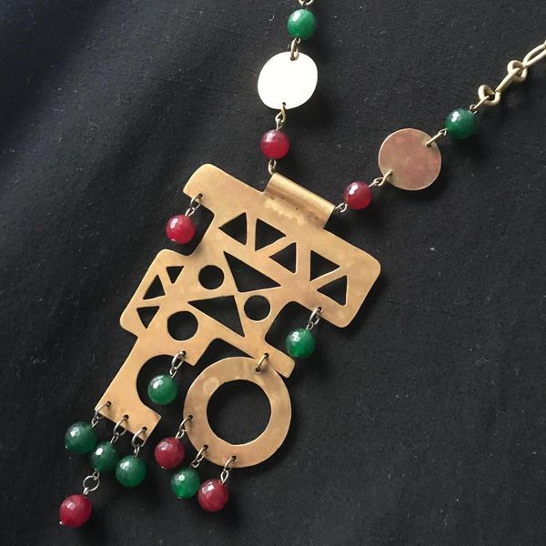 Handmade Egyptian copper necklaces designed from A to Z
