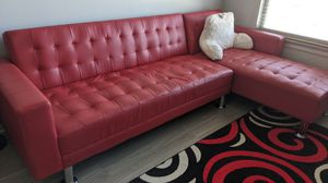 Red sectional couch. for Sale in Atlanta, GA