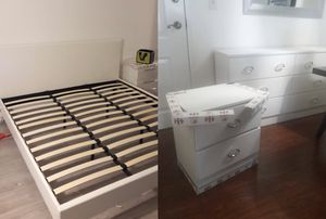 New king platform bed frame. Dresser. One nightstand. Delivery for Sale in Lake Worth, FL