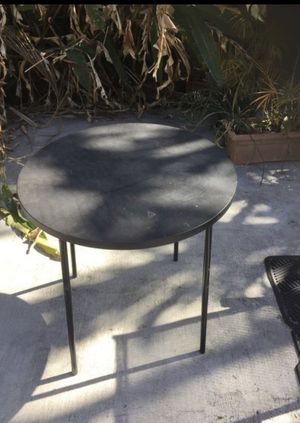 27 inch diameter hard plastic table for indoor or outdoor for Sale in South Miami, FL