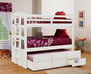 Bunk bed with trundle and drawers take it home with $39!down for Sale in Dallas, TX