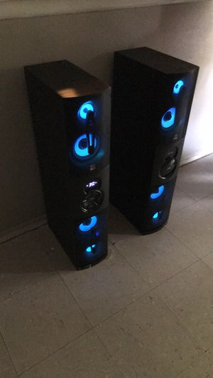 Altec lansing Bluetooth dou speaker towers for Sale in San Antonio, TX