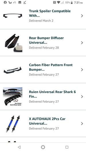 Whole Bunch Of Car Body Kit Parts Ordered From Amazon! Make A Offer! for Sale in Kent, WA