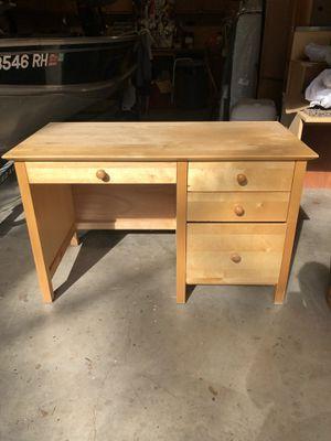 Pine desk set (desktop, shelves, chair) for Sale in Redmond, WA