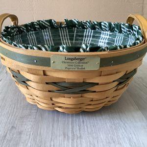 Longaberger Christmas Collection 1999 Edition Popcorn Basket for Sale in Arlington, VA