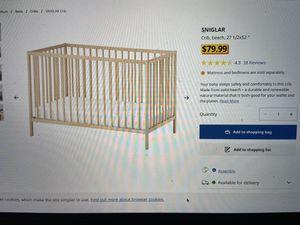 IKEA SINGLAR baby crib. for Sale in Mountain View, CA
