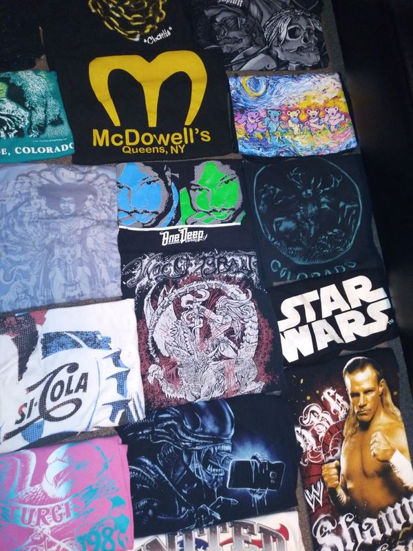 🔥 SALE!! AWESOME VINTAGE/NOVELTY/ CARTOON/BAND TEES ASSORTMENT. BUY 3 SHIRTS GET ONE FREE OF EQUAL OR LESSER VALUE. BUNDLES AVAILABLE
