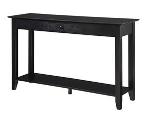 Console Entry Table TV Stand with Drawer and Shelf in Black for Sale in San Francisco, CA