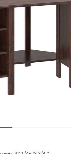Dark Brown IKEA Corner Desk for Sale in Bellevue,  WA