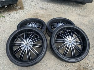 Rims 26 tires good fit for f150 or Chevy an Cadilac an Toyota Nissan for Sale in Mount Vernon, WA