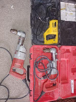 Herramientas 2 angle drill milwuakee y 1 Rotary hammer dewalt for Sale in Annandale, VA