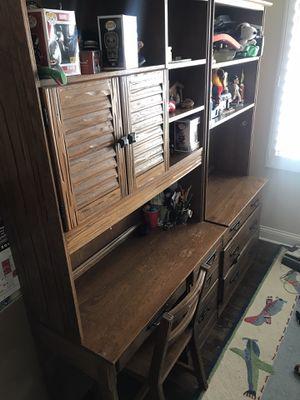 Bunk bed, dressers, desks, chairs - kids bedroom set. Sold Oak for Sale in Western Springs, IL