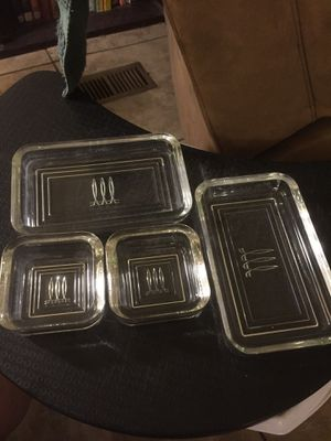 Set of 4 glass dishes for Sale in Lakeland, FL