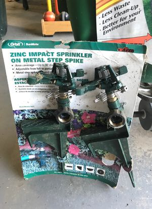 Orbit zinc impact sprinklers (2) new never used for Sale in Purcellville, VA