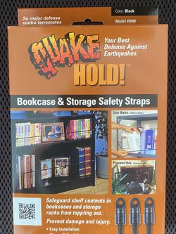 Quakehold! Bookcase and Storage Strap for Sale in Federal Way,  WA
