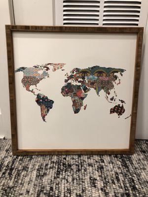World Art/ Urban Outfitters/ Wood Frame for Sale in Washington, DC