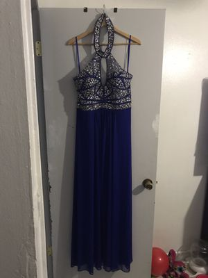 Dress Fits Beautifully Royal Blue Size 16 $50 OBO (used once) for Sale in Miami, FL