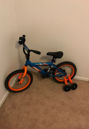 Byke with training wheels +helmet and safety hand and leg pads free for Sale in Oakbrook Terrace, IL
