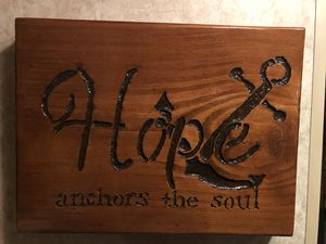 Wood Picture of Hope for Sale in Clarksburg, WV