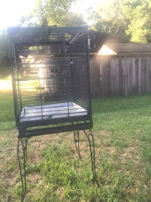Parrot bird cage w stand. for Sale in Magnolia, TX
