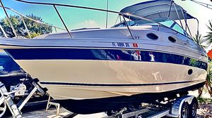 27.4' Twin Engine Cruiser w/Camper Top & Trailer for Sale in Hollywood, FL