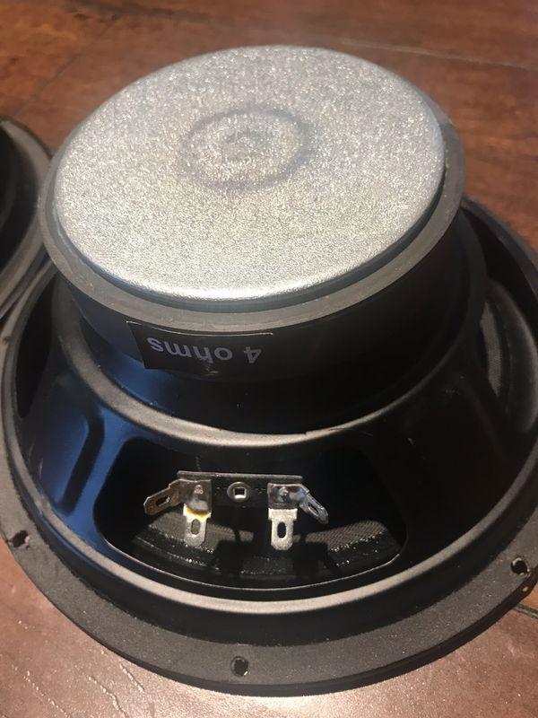 """Pair (2 pcs) Pro 8"""" Midrange Speaker 4 ohm Loudspeaker ,home, Car Audio etc"""