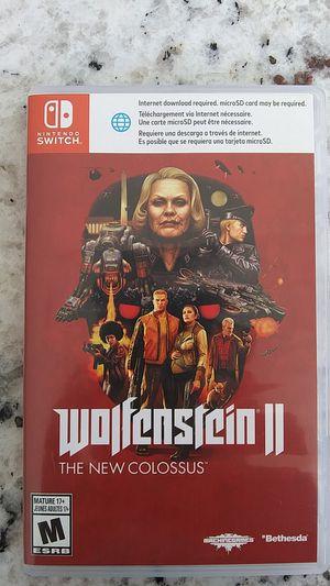 Wolfenstien 2 for Nintendo Switch for Sale in Garner, NC