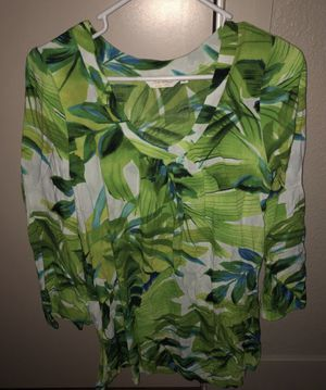 NWOT JAMS WORLD SINCE 1964 GREEN LEAF CREW NECK LONG SLEEVE TUNIC for Sale in Denver, CO